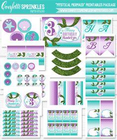 Personalized Diy Under The Sea Little Mermaid Birthday Party Digital Printable…