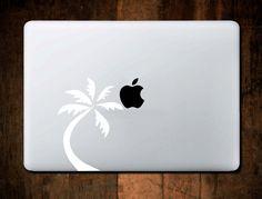 Palm Tree Decal, Beach Decal, Beach Sticker, Macbook decal, Laptop Sticker, Laptop Decal by NebraskaVinyl on Etsy
