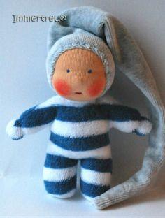 Darling little friend, handmade doll Name 5 inch Waldorf tradition Custom Order :: Immertreu® Online Shop