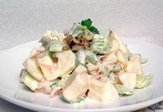 Waldorf saláta klivi konyhájából Burlap Crafts, Salad Recipes, Potato Salad, Buffet, Food And Drink, Potatoes, Eat, Ethnic Recipes, Potato