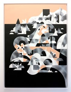"""Mirage"" – James Reka. 2016 120 x 90 cm / Acrylic & Aerosol on 300gm Linen"