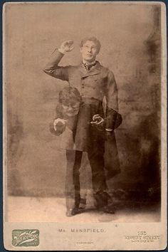 """1885 photo by Van der Weyde, a painter who became a photographer and was one of the founding members of the Linked Brotherhood (group of early modernist photographers) of actor Richard Mansfield who appeared in the stage production of """"The Strange Case of Dr Jekyll and Mr Hyde"""" in both London and New York. His performance was of such ferocity that it is rumored that he was questioned by Scotland Yard in connection with the Jack the Ripper murders in 1888."""