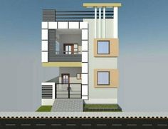 House Front Wall Design, Single Floor House Design, Bungalow House Design, Small House Design, Modern House Design, West Facing House, Indian House Plans, House Design Pictures, Model House Plan