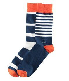 nautical knit socks   h
