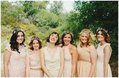 bridesmaid floral headdress
