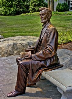 A life size bronze statue, of Abraham Lincoln.Chicago.