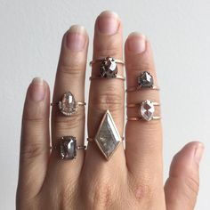 one of a kind diamond engagement rings  ::  Alexis Russell