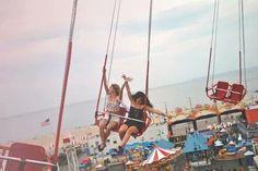 #swings #beach #funfair #summertime #lazydays #girlfriends #bestfriends #taleofboy