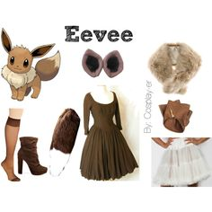 Eevee pokemon cosplay by cosplay-er on Polyvore featuring Michael Antonio, Causse and H&M