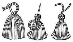 Sugestão de SilMez   Pingentes de seda para acabamento em almofadas,  cortinas, enfeites.  Mais rústico? Use barbante cru ou colorido.