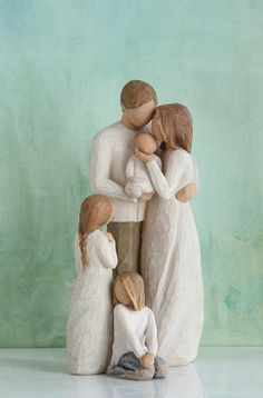Family Groupings of Willow Tree hand-sculpted figures by Susan Lordi Willow Tree Familie, Willow Tree Engel, Willow Tree Figuren, Willow Tree Nativity, Willow Tree Wedding, Tree Clipart, Tree Sculpture, Watercolor Artwork, Creations