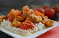 A delicious chicken dish with sweet potatoes for your dinner dish, easy … - Recipes Easy & Healthy Easy Healthy Recipes, Easy Meals, Amazing Wedding Cakes, Dinner Dishes, Yum Yum Chicken, Sweet Potato, Cooking Recipes, Nutrition, Food