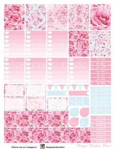 30% OFF SALE Roses Planner Stickers/Erin Condren Planner