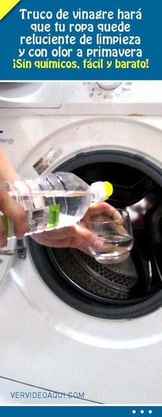 Truco de vinagre hará que tu ropa quede reluciente de limpieza y con olor a primavera. ¡Sin químicos, fácil y barato!