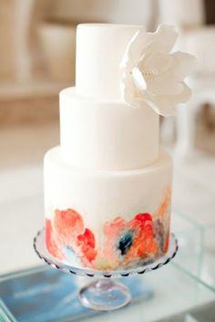 Wedding cake acquerello   Watercolor Wedding cake   Watercolor Wedding Inspiration http://theproposalwedding.blogspot.it/ #watercolor #wedding #inspiration #summer #acquerelli #matrimonio #estate