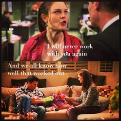 hahahaha....just seven seasons later.... They have a kid, get married after that, and work together EVERY day