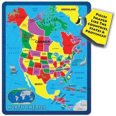 A Broader View's Continent Puzzle - North America (55-piece)