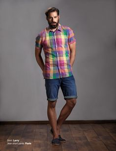 Shirt: Larry Jean Short Pants: Paolo  Discover Men's collection at www.staff-jeans.com/look-book-men/