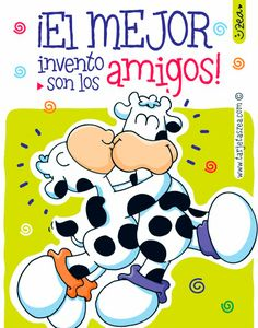 Brindemos por la amistad-vacas abrazadas © ZEA www.tarjetaszea.com