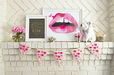 DIY: Ombre Valentine's Day Bunting