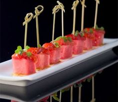 Tomato and Watermelon Skewers - Jose Andres