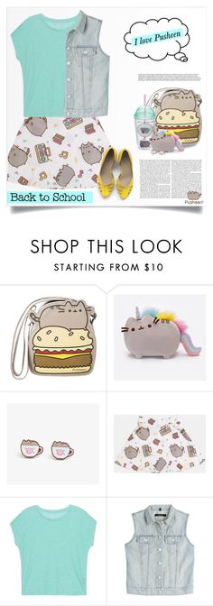 """""""#PVxPusheen"""" by tawnee-tnt ❤ liked on Polyvore featuring Pusheen, Gund, Majestic Filatures, J Brand, contestentry and PVxPusheen"""