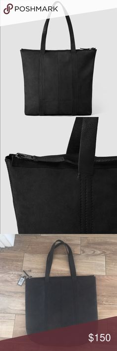 NWT leather all saints Brand new all leather zip up tote. Beautiful minimalistic look. 16x19 All Saints Bags Totes