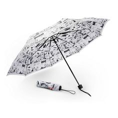 Moomin White Comic umbrella by Lasessor - The Official Moomin Shop  - 1