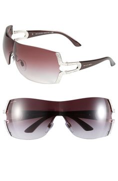 BVLGARI Parentesi Motif Shield Sunglasses available at #Nordstrom