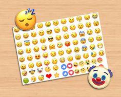 Stickers emoticons Adesivi tagliati facce espressioni