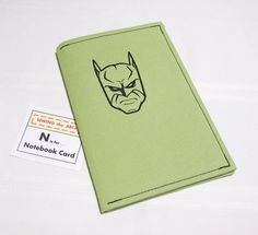 BATMAN Embroidered NOTEBOOK Lime Green . . . $20 . . . by #SEWINGtheABCs on #Etsy. . . All-Occasion Card . . . Special Recognition . . . Refillable . . . #Notepad #Journal #Notebook #EmbroideredNotebook #FabricCard #BacktoSchool #Organization #GiftsforMen #MenGifts #BatmanNotebook #BatmanCard #Sustainable #Superhero #EtsyGifts