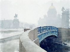 "Saint Petersburg. Vitaly Schukin_ Виталий Щукин (1962, Пенза). ""Синий мост"", 2009"