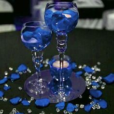 300 Pack Ocean Large Acrylic Ice Bead Vase Fillers Table Decoration is part of Blue wedding decorations View the top quality party supplies and wedding decorations at efavormart com Shop for our cr - Royal Blue Centerpieces, Royal Blue Wedding Decorations, Blue Party Decorations, Decoration Table, Royal Blue Wedding Cakes, Sweet 16 Centerpieces, Diamond Party, Denim And Diamonds, Royal Blue And Gold