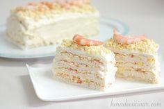RECETA Pastel de marisco con pan de molde, El pastel de verano con pan de molde que tenéis en nuestra web tuvo mucho éxito por lo que aquí os dejo otra