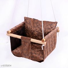 Others Baby Swing  Material: Wooden Frame Size (L x W x H ): 35 in x 35 in x 6 in   Description: It Has 1 Piece Of Hanging Swing Chair Country of Origin: India Sizes Available: Free Size *Proof of Safe Delivery! Click to know on Safety Standards of Delivery Partners- https://ltl.sh/y_nZrAV3  Catalog Rating: ★4.2 (5650)  Catalog Name: Unique Hanging Swing Chair Vol 2 CatalogID_922730 C63-SC1325 Code: 956-6072204-