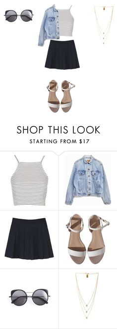 """""""urban"""" by emilydavis12345 ❤ liked on Polyvore featuring Topshop, Levi's, Wood Wood, Lionette, women's clothing, women's fashion, women, female, woman and misses"""