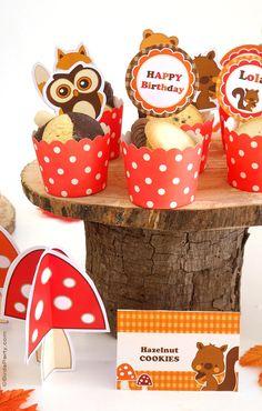Woodland Birthday Party Ideas & Printables | BirdsParty.com