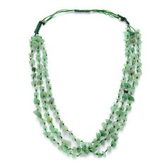 Green Aventurine Necklace (Adjustable) in Silvertone TGW 25.00 cts. #Unbranded #StrandString