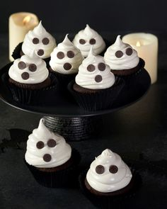 How to make Halloween ghost cupcakes: Need some extra scary Halloween cupcakes to impress your guests? Our wicked recipe is the ultimate solution. Cast a delicious spell over your family with our complete collection of – because who said Halloween was just for kids? What you'll need 140g butter, softened 250g caster sugar 2 free-range eggs, lightly beaten 1 tsp vanilla extract 150g plain flour 75g self-raising flour 1 tsp bicarbonate of soda 50g cocoa powder 200ml buttermilk or plain Halloween Cupcakes, Halloween Ghosts, Ghost Cupcakes, Free Range, Cupcake Recipes, Raising, Cocoa, Wicked, Vanilla