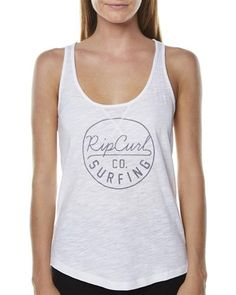 SURFSTITCH - WOMENS - TOPS - SINGLET - RIP CURL GOOD TIMES TANK - WHITE