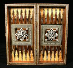 Hand Crafted Syrian Arabesque Mosaic Chess Backgammon Game Board by MBW Furniture | CustomMade.com