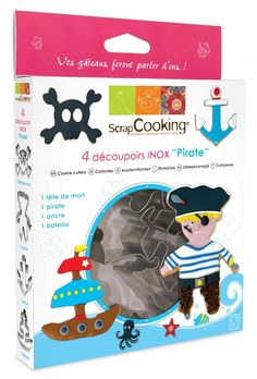 ScrapCooking Pirate Cutters, Stainless Steel, Box of 4 > Find out more details @ : Baking Accessories