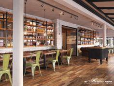 #Lokaal #amsterdam #3d-drawing #reinrambaldo #restaurant #design #dehorecafabriek