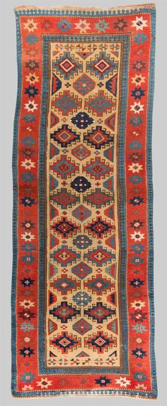 Grogan and Company | SOUTH CAUCASIAN RUG; mid 19th century; 8 ft. 10 in. x 3 ft. 4 in.