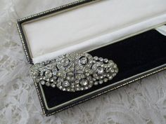 Diamante brooch 1920's by Nkempantiques on Etsy