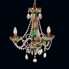 Tomia L 501/03/3 High Enamel The Countess 3-Light Crystal Chandelier