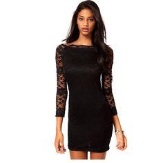 Asos Lace Black Dress Off Shoulder