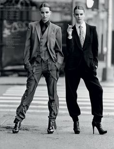 Androgynous Pictorials: The Multi-Model Editorial, 'New Faces' in French Revue De Modes Foto Fashion, Estilo Fashion, Tomboy Fashion, Street Fashion, Androgynous Fashion Women, Fashion 2018, Fashion Art, Look 80s, Look Retro