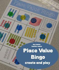 Boy Mama Teacher Mama: Place Value Bingo