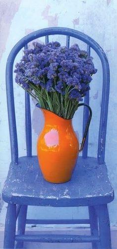 Wow, das ist spannend durch die Komplementärfarbe orange/lila